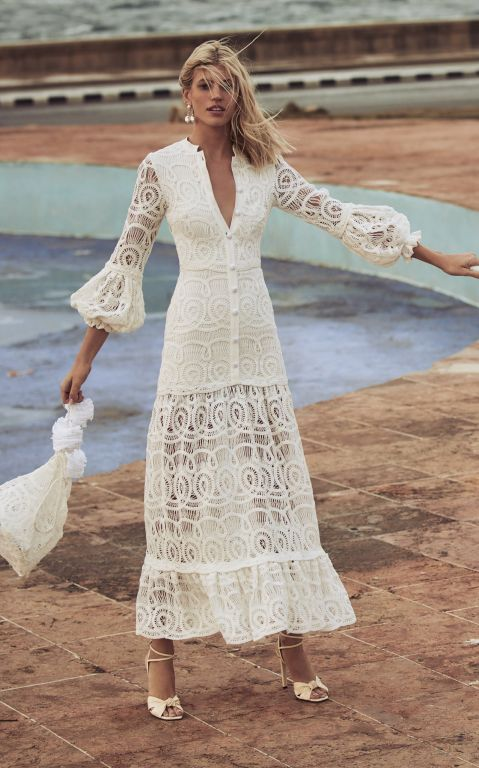 Alexis Eudora Cotton Lace Maxi Dress