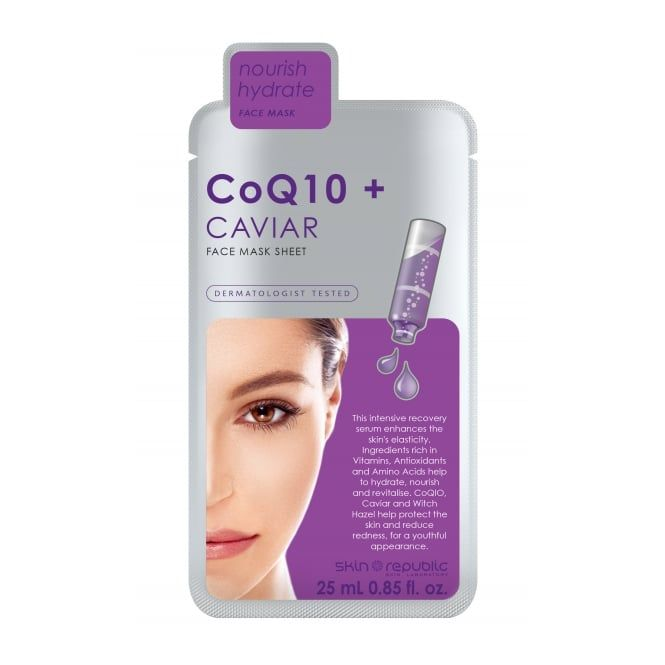 Skin Republic CoQ10+Caviar Nourish Hydrate Face Mask 25ml Sachet